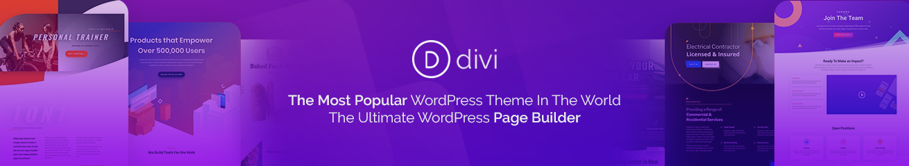 Divi - The Most Popular WordPress Theme In The World And The Ultimate WordPress Page Builder.
