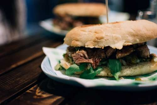Argentinian beef steak sandwich