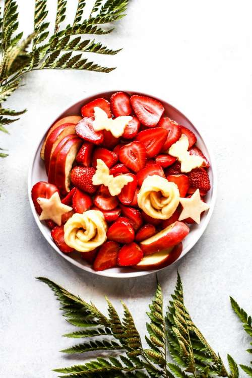 Fresh strawberry platter
