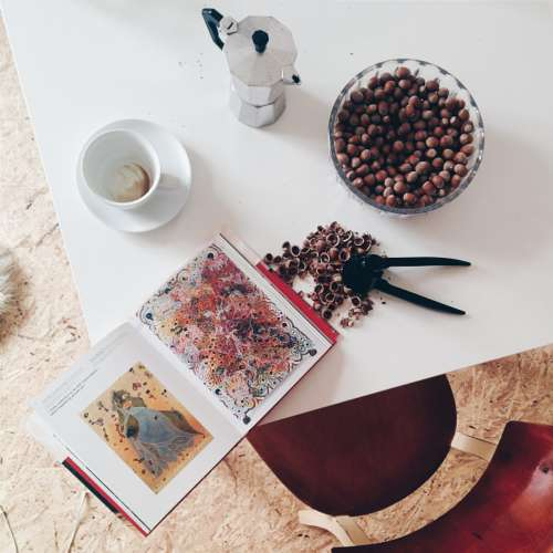 Nuts and coffee at home