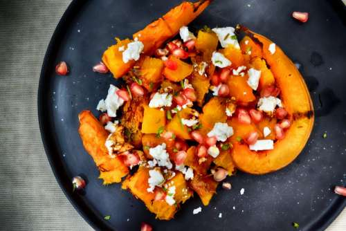 Pumpkin Salad with Feta and Seeds