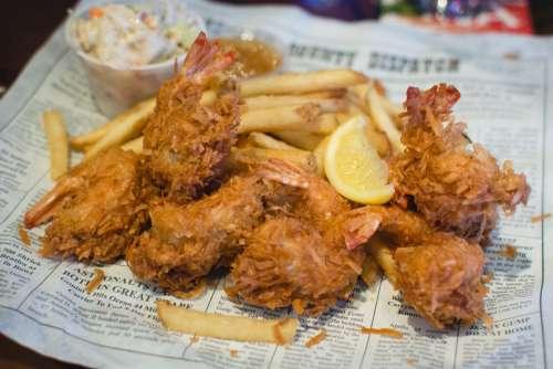 Shrimp dishes in Bubba Gump restaurant