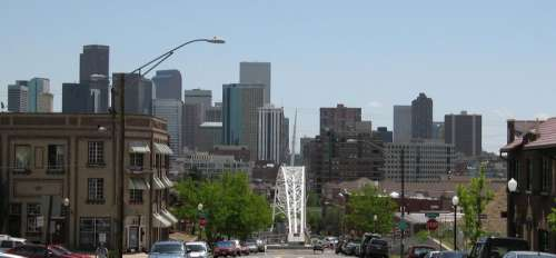 Downtown Denver view in Colorado free photo
