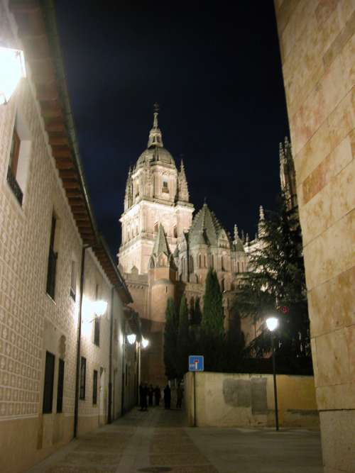 A street of the old city of Salamanca in Spain free photo
