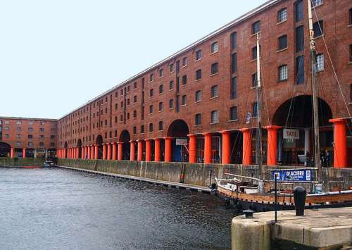 Albert Dock along the waterfront in Liverpool, England free photo