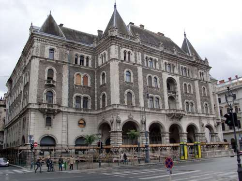 Andrássy Avenue building in Budapest, Hungary free photo