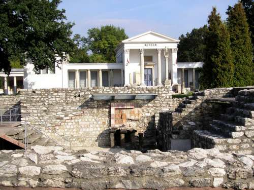 Archaeological park of the Aquincum Museum in Budapest, Hungary free photo
