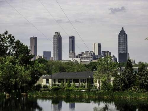 Atlanta Skyline with skyscrapers in Georgia free photo