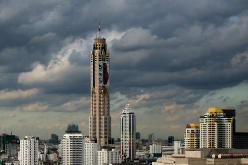 Bayoke Tower II in Bangkok, Thailand free photo