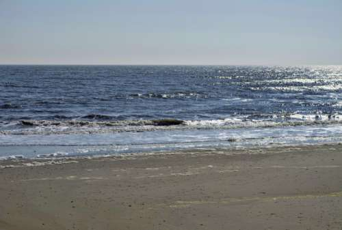 Beach at Atlantic City, New Jersey free photo