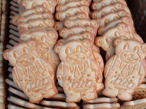 Bear shaped cookies free photo