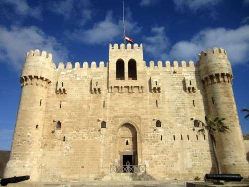 Bey Citadel in Alexandria, Egypt free photo
