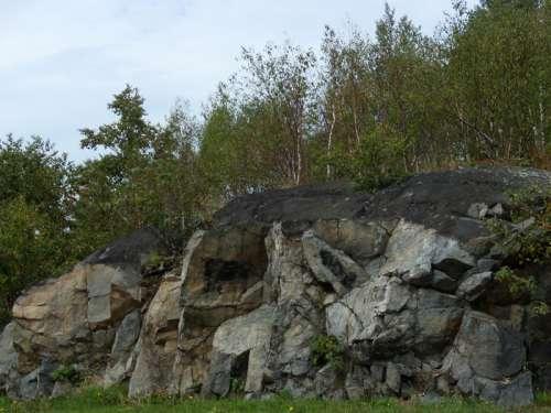 Blackened rocks in Sudbury in Ontario, Canada free photo