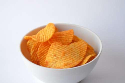 Bowl of Potato Chips free photo
