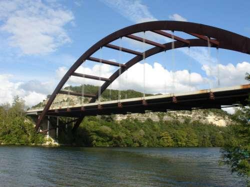Bridge over the river in Austin, Texas free photo