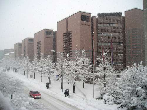 BSI buildings in the winter in Lugano in Switzerland free photo