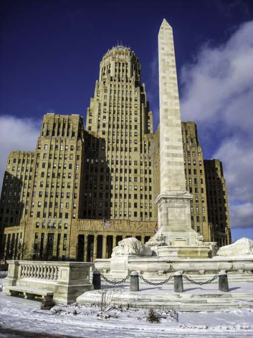 Buffalo City Hall and McKinley Monument in New York free photo