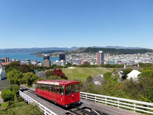 Cable Car from Willington Harbor, New Zealand free photo
