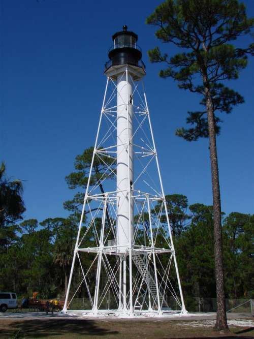 Cape San Blas Lighthouse in Port St. Joe, Florida free photo