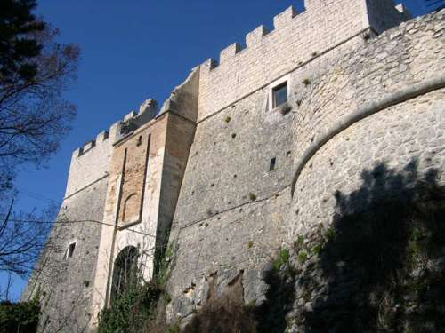 Castello Monforte walls in Campobasso, Italy free photo