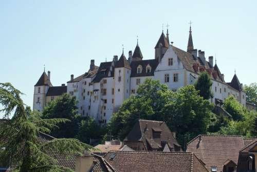 Castle of Neuchâtel in Switzerland free photo