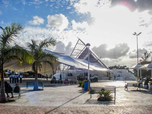 Central Cancun with tents in Quintana Roo, Mexico free photo