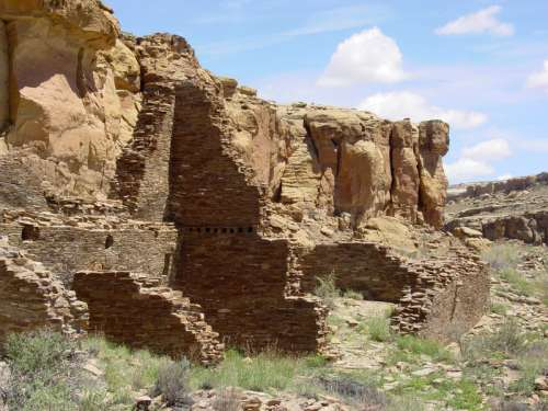 Chaco Canyon landscape in New Mexico free photo