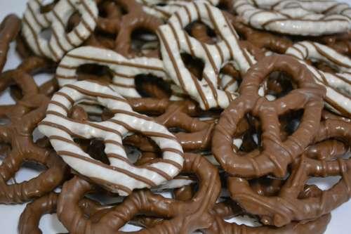 Chocolate Pretzels free photo