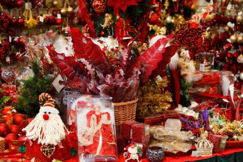 Christmas Toys and Decorations in a store free photo