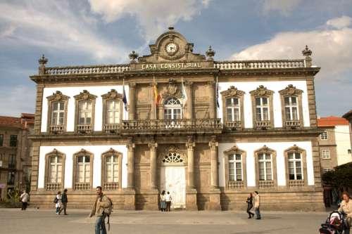 City Hall, 19th century in Pontevedra, Spain free photo
