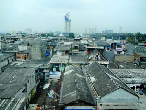 Cityscape of Jakarta, Indonesia with lots of buildings free photo