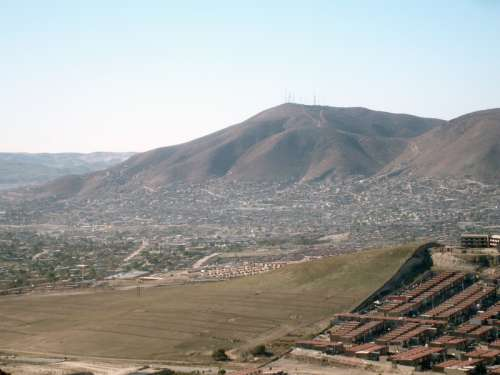 Colorado Hill, the highest elevation of Tijuana in Baja California, Mexico free photo