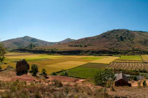Countryside landscape in Madagascar free photo