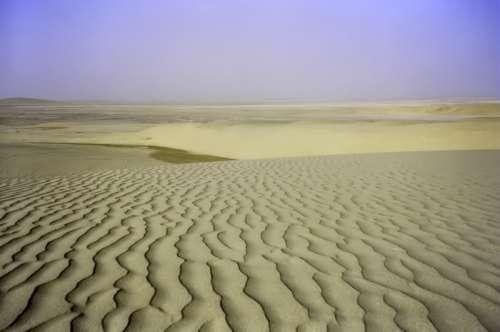Desert Landscape in Qatar free photo