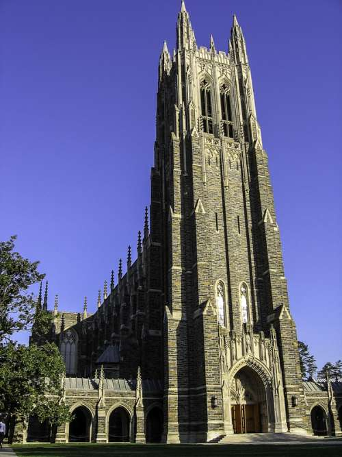 Duke Chapel at Duke University in North Carolina free photo