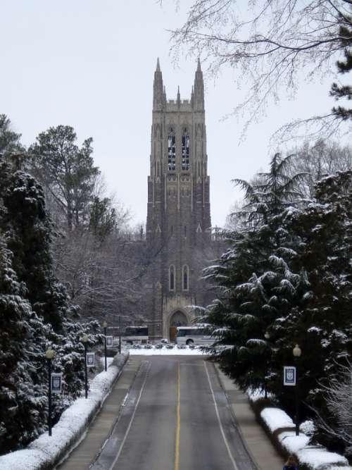 Duke Chapel in the Winter in Durham, North Carolina free photo
