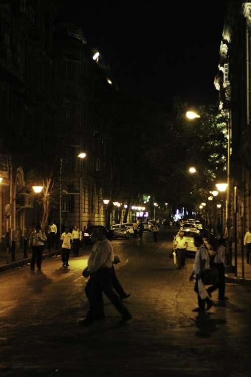 Evening and night in Mumbai, India free photo
