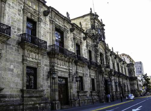 Facade of the State Government Palace in Guadalajara, Mexico free photo
