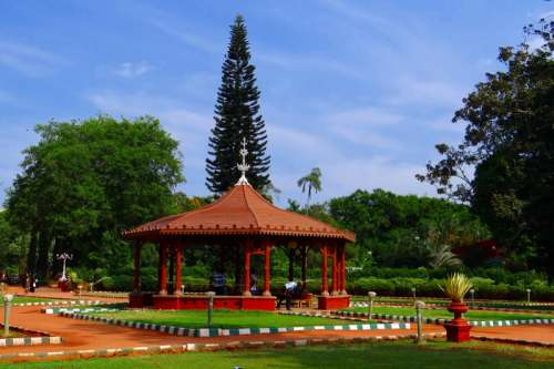 Gazebo in Canopy Garden in Bangalore, India free photo