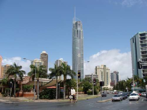 Gold Coast Highway and Skyscrapers in Queensland, Australia free photo