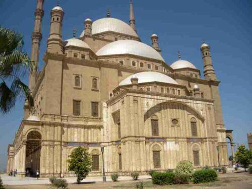 Grand mosque in Cairo, Egypt free photo