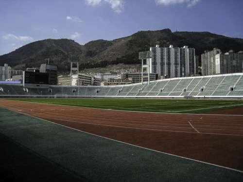 Gudeok Stadium in Busan, South Korea free photo