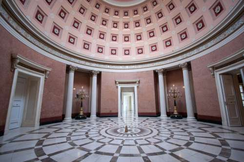 Hall under the dome in the National Museum in Budapest, Hungary free photo