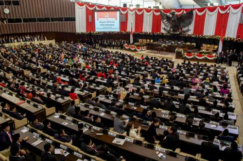Inauguration of Indonesian President by People's Consultative Assembly in Jakarta- Indonesia free photo
