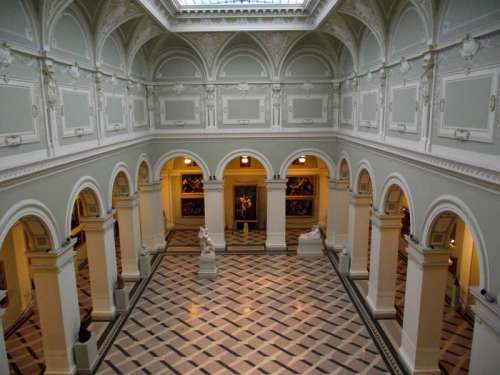 Inner Hall of the Museum of Fine Art, Budapest, Hungary free photo