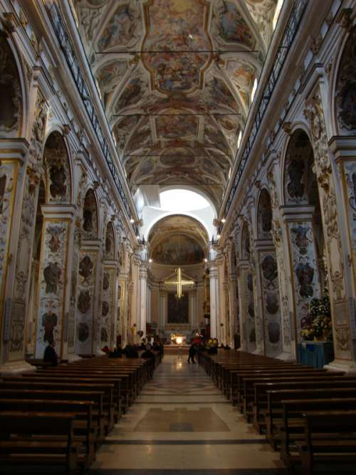Inside the Cathedral of Santa Maria in Caltanissetta, Italy free photo