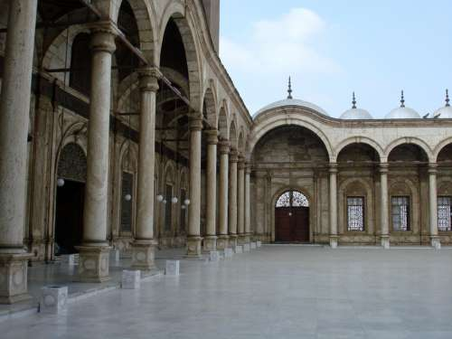 Inside the Citadel Mosque in Cairo, Egypt free photo