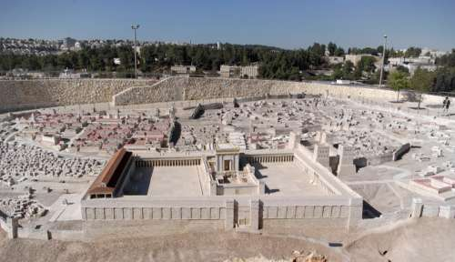 Jerusalem Model with Temple of Herod in Israel free photo