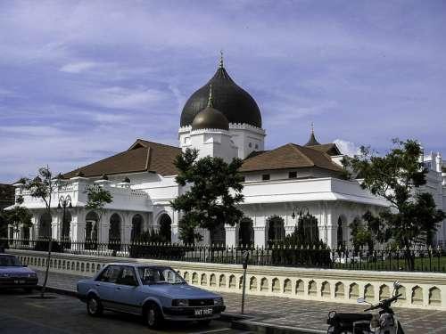 Kapitan Keling Mosque in George Town, Malaysia free photo