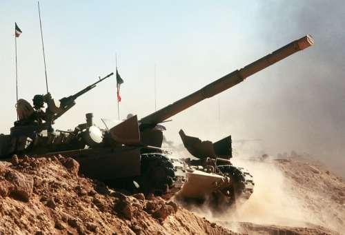Kuwait M-84 tank during Operation Desert Shield during the Gulf War free photo